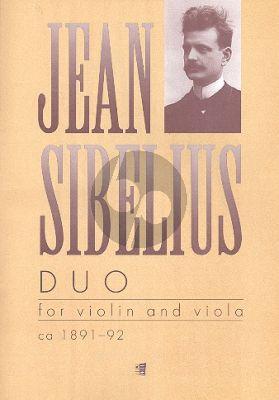 Sibelius Duo Violin-Viola