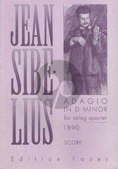Sibelius Adagio d-minor String Quartet Score (1890)
