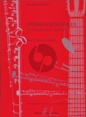 Granados Danses Espagnoles No.2 Oriental (2 Flutes-Guitare)