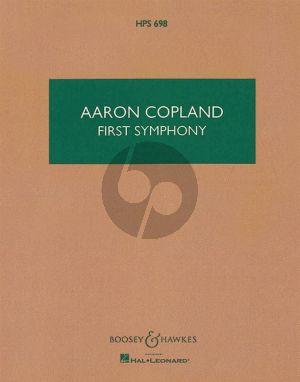 Copland Symphony No. 1 Study Score