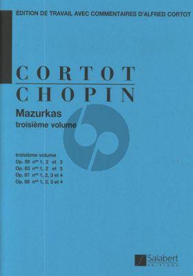 Chopin Mazurkas Vol.3 Op.59-Op.63-Op.67 et Op.68 Piano (edition par Alfred Cortot)