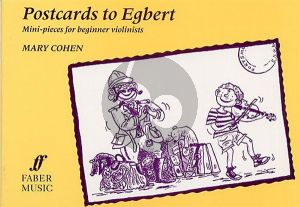 Cohen Postcards to Egbert for Violin and Piano (Mini Pieces for Beginner Violinists)