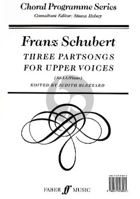 3 Partsongs for Upper Voices SSAA-Piano