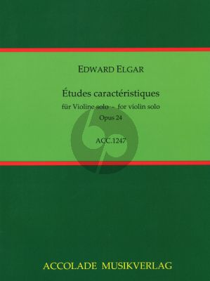 Elgar Etudes Characteristiques Op. 24 Violine (1.- 7.Pos.)