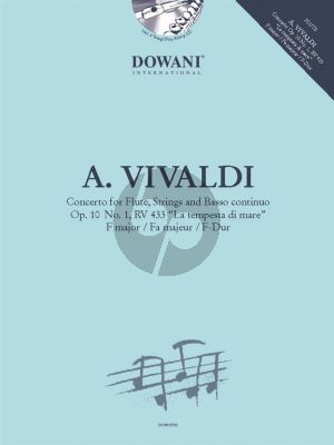 "Vivaldi Concerto F-major Op.10 No.1 RV 433 ""La Tempesta di Mare"" (Flute and Piano) (Dowani Play-Along)"
