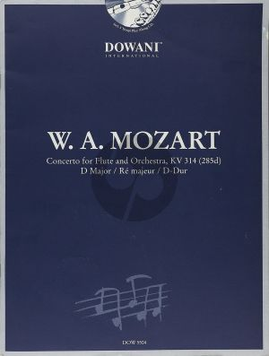 Mozart Concerto D-major KV 314 Flute (Solo Part-CD) (Dowani)