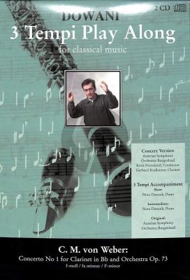 Weber Concerto No.1 Op.73 f-minor (Solo Part[Bb]-CD) (Dowani)