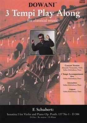 Schubert Sonatina D-major Op.137 No.1 D.384 Violin (Solo Part-CD) (Dowani)