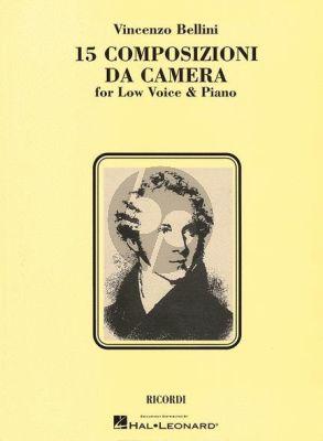 Bellini 15 Composizioni da Camera Low Voice (Italian with English Translations)
