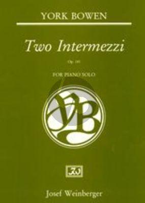 Bowen 2 Intermezzi Op. 141 Piano solo