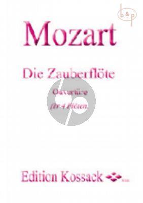 Zauberflote Ouverture (4 Flutes) (Score/Parts)