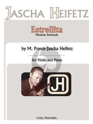 Ponce Estrellita Violin and Piano (My Little Star) (arr. Jascha Heifetz)