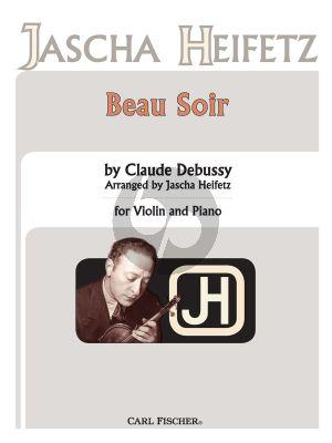 Debussy Beau Soir Violin and Piano (transcr. by Jascha Heifetz)