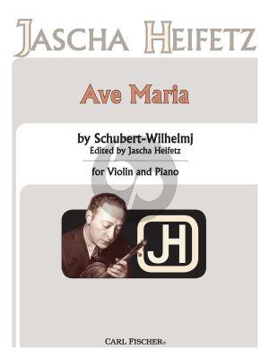 Schubert Ave Maria for Violin and Piano (Wilhelmj) (edited by Jascha Heifetz)