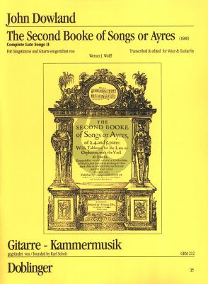 Dowland Second Booke of Songs or Ayres (1600)