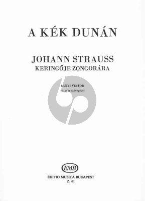 Strauss An der Schonen Blauen Donau Walzer Op. 314 Klavier