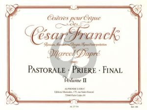 Franck Oeuvres Completes Vol. 2 pour Orgue (Marcel Dupre)