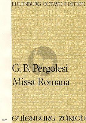 Pergolesi Missa Romana SATB vocal soli-SATB/SATB chorus-Orch. Full Score