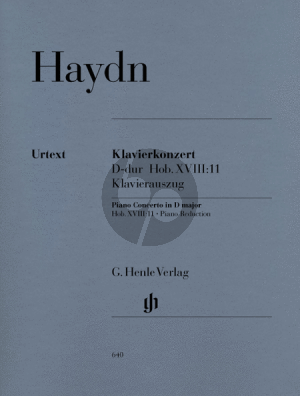 Haydn Concerto D-major Hob.XVIII:11 (Piano-Orch.) (piano red.) (edited by Wackernagel) (Cadenzas by Sonja Gerlach) (Henle-Urtext)