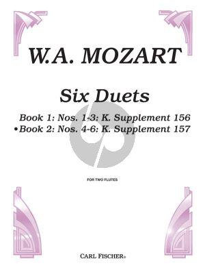 Mozart 6 Duets Op.75 Vol.2 2 Flutes