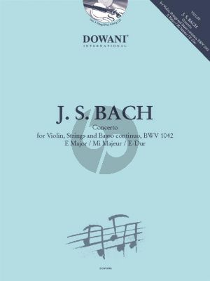 Bach Concerto E-major BWV 1042 Violin-Strings-Bc (Violin with Piano) (Bk-Cd) (Dowani)
