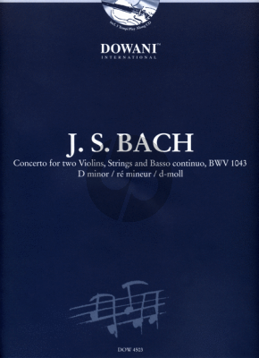 Bach Concerto d-minor BWV 1043 (2 Violins) (Solo Parts-Piano) Soloparts-2 CD's (Dowani)