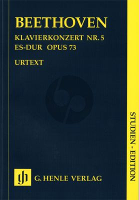 Beethoven Concerto No.5 Op.73 E-flat major (Piano-Orch.) (Study Score) (Henle-Urtext)