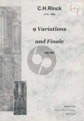 Rinck 9 Variations & Finale Op.90 (Kortjakje) Orgel