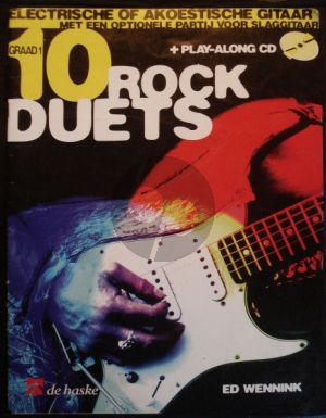 Wennink 10 Rock Duets 2 Guitars (Bk-Cd) (easy level)