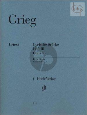 Grieg Lyrische Stucke Vol.3 Op.43 (edited by Steen- Nokleberg) (Henle-Urtext)