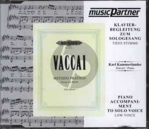 Vaccai Metodo Pratico for Tiefe/Low Voice (This is the CD only)
