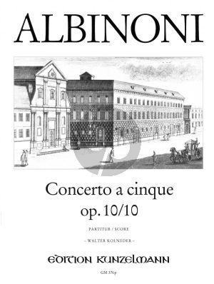 Concerto C-Dur Op.10 / 10 Violine-Streicher-Bc