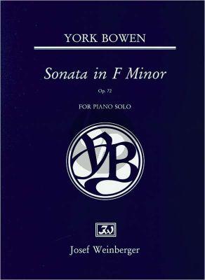 Bowen Sonata f-minor Op.72 Piano solo