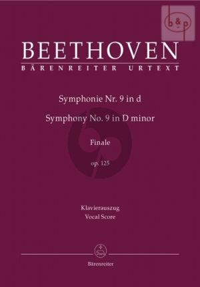 An die Freude Opus 125 (9th.Symphony Finale) (Vocal Score)