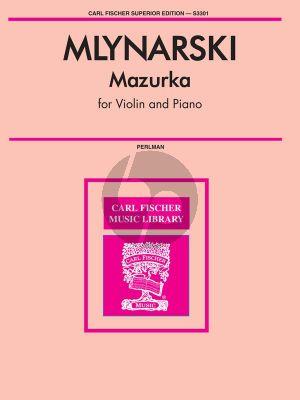 Mlynarski Mazurka Violin-Piano (edited by George Perlman)