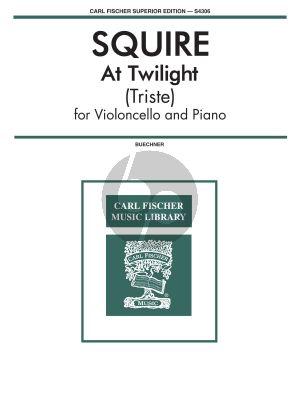 Squire At Twilight (Triste) Violoncello-Piano (Alvin Buechner)