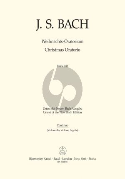 Weihnachts Oratorium BWV 248 Soli-Chor-Orch. Basso Continuo[Vc./Violone/Fag.]