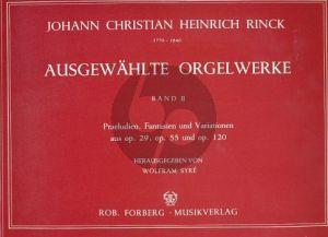 Rinck Ausgewahlte Orgelwerke Vol.2