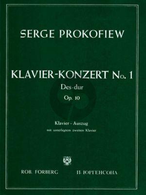 Prokofieff Konzert No.1 Des Dur Op.10 Klavier-Orchester Ausgabe 2 Klaviere