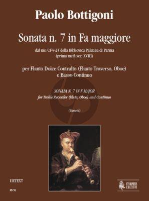 Bottigoni Sonata No.7 F-major Treble Recorder[Flute/Oboe]-Bc (Valeria Tarsetti)