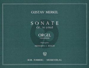 Merkel Sonate d-moll Op.30 Orgel 4 Hd.