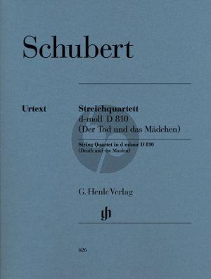 Schubert String Quartet (Streichquartett) d-Minor D.810 (Der Tod und das Madchen) Stimmen/Parts (Edited by Wiltrud Haug-Freienstein) (Henle-Urtext)