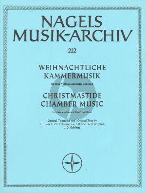 Weihnachtliche Kammermusik 2 Violinen-Bc (Partitur und Stimmen)