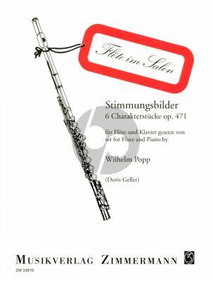 Popp Stimmungsbilder Op. 471 Flöte und Klavier (Doris Geller)
