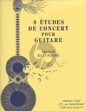 Kleynjans 8 Etudes de Concert Op.29 pour Guitare