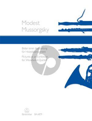 Mussorgsky Pictures at an Exhibition Woodwind Quintet (Score/Parts) (transcr. Joachim Linckelmann)