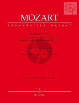 Mozart Concerto G-major after Clarinet Concerto KV 622 (arr. A.E.Muller) (piano red. by C.Hogwood) (Barenreiter)