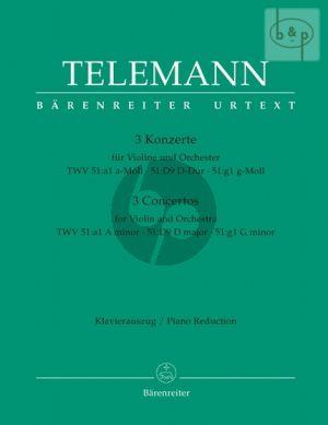 3 Konzerte (a-moll TWV 51:a1 -D-dur TWV 51:D9 - g moll TWV 51:g1)