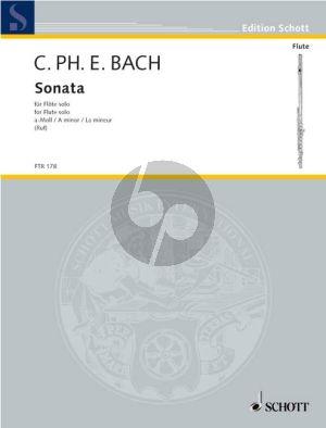 Bach Sonate a-moll WQ 132 Flöte solo (Hugo Ruf) (Grade 4)