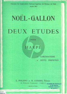 Gallon 2 Etudes pour Harpe